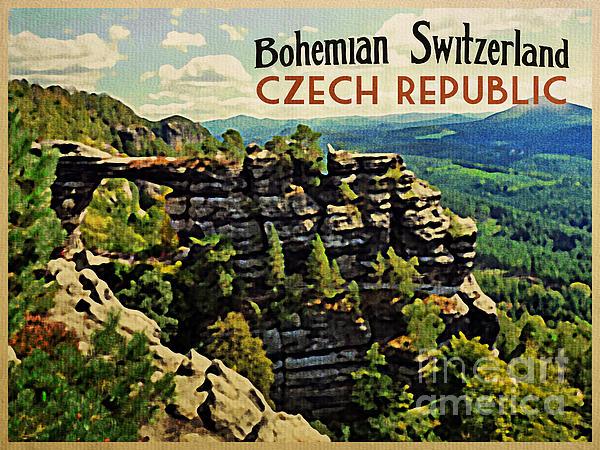 Bohemian Switzerland Czech Republic Print by Flo Karp