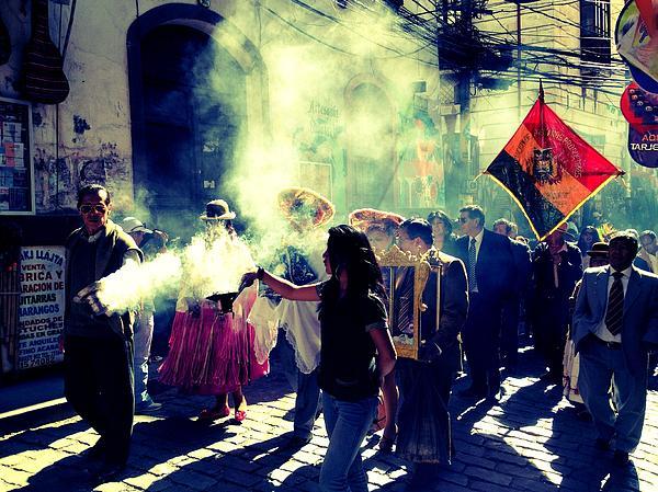Bolivia Celebrations   Print by Jade Sayers