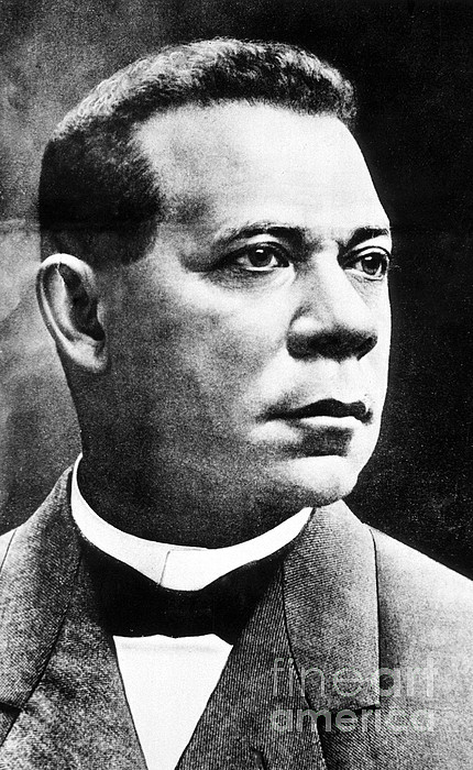 Booker T. Washington, African-american Print by Photo Researchers