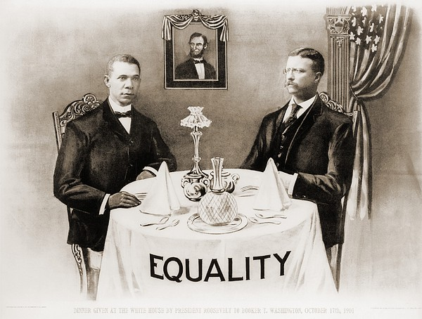Booker T. Washington Dines Print by Everett