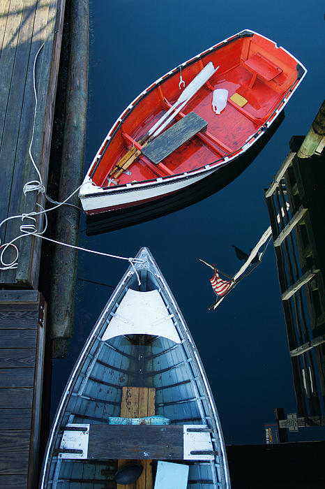 Boothbay Boats 1 Print by Ron St Jean