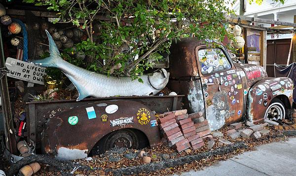 B.o.'s Fish Wagon - Key West Florida Print by Bill Cannon