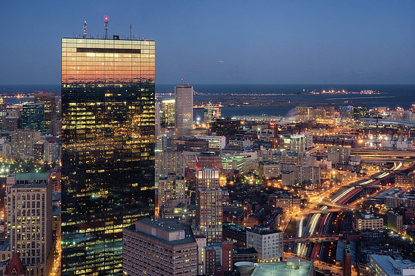 Boston By Night. Print by Linh H. Nguyen Photography