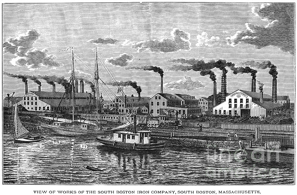 Boston: Iron Foundry, 1876 Print by Granger