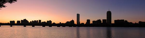 Boston Skyline Print by Juergen Roth