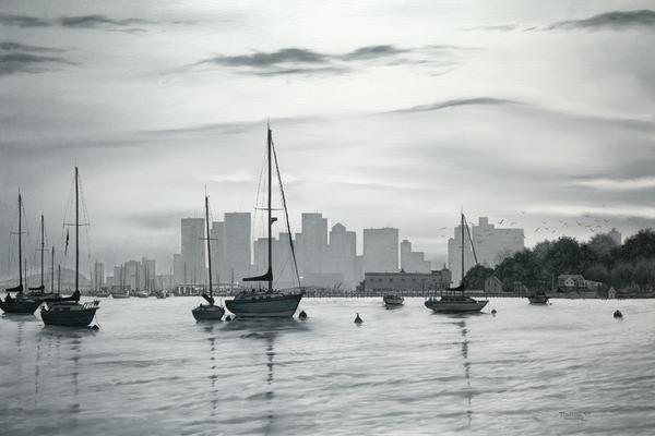 Boston Skyline  Print by Matthew Martelli