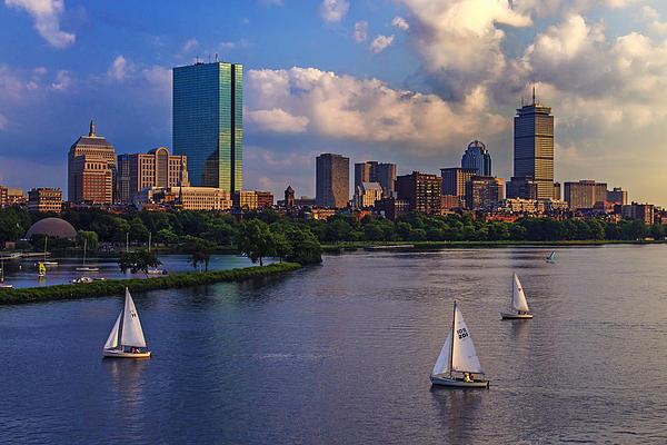 Boston Skyline Print by Rick Berk