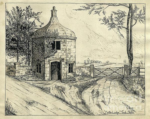 Bottle Lodge Pen Sketch 1932 Print by John Chatterley