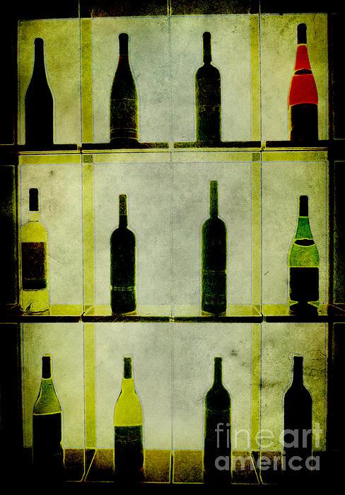 Bottles Print by Alexander Bakumenko