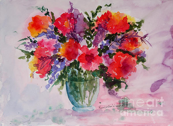 Bouquet Of Wishes Print by Kimberlee Weisker