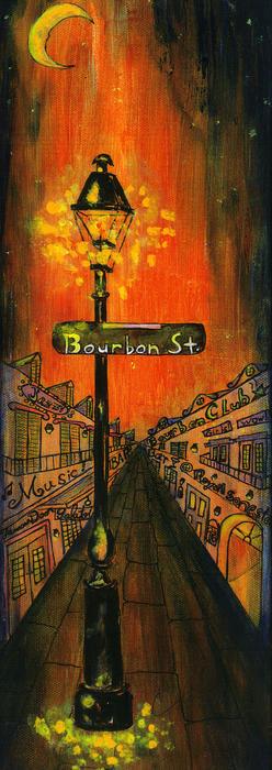 Bourbon Street Lamp Post Print by Catherine Wilson