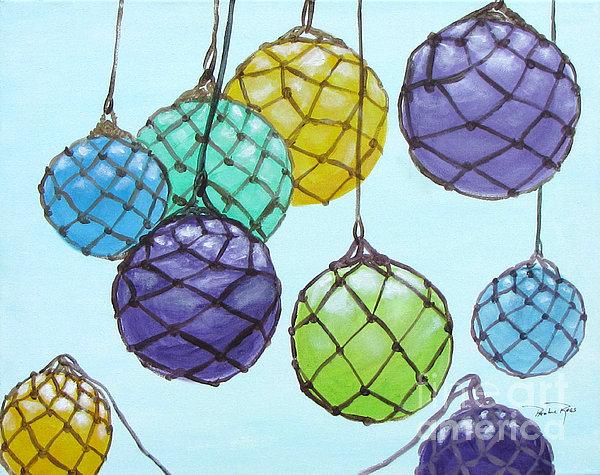 Bouy Balls Print by Pauline Ross