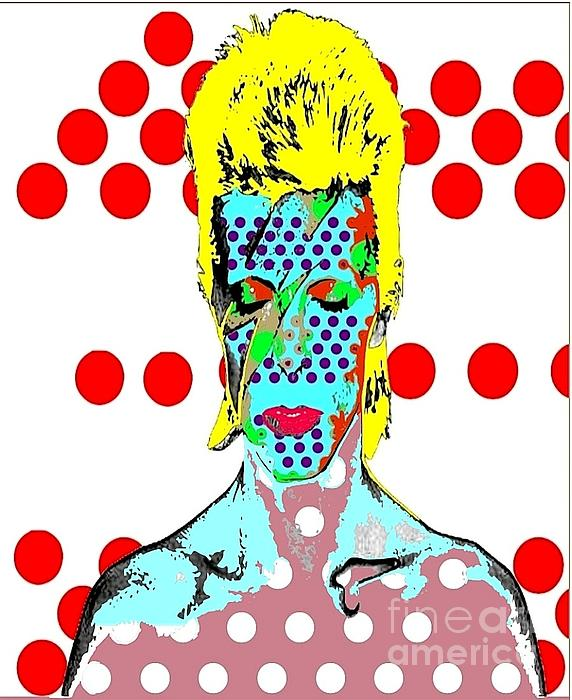 Bowie Print by Ricky Sencion