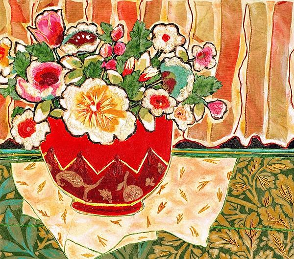 Bowl And Blossoms Print by Diane Fine