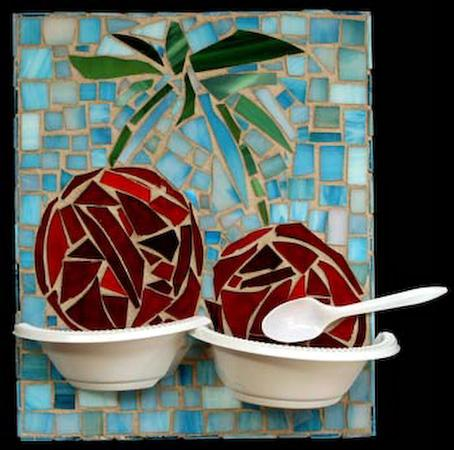 Bowl Of Cherries Glass Art