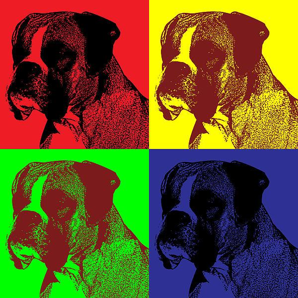 Boxer Dog Pop Art Style Print by Jim Bryson