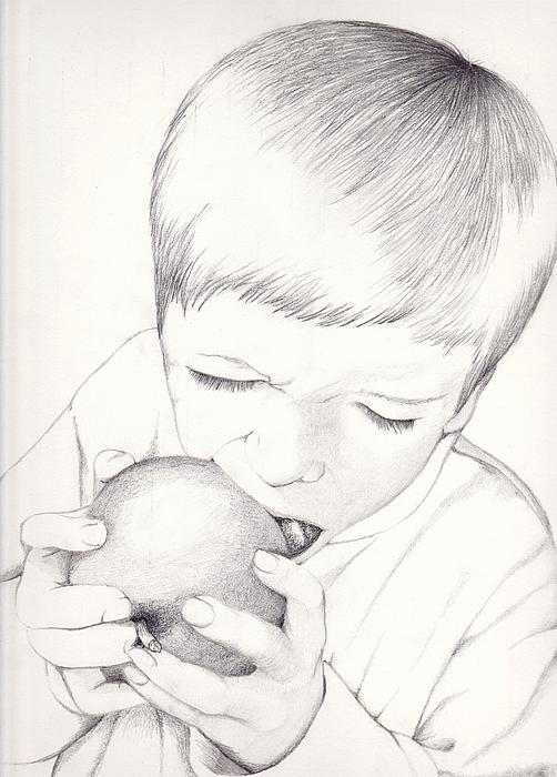 Kelly Hazel - Boy with Apple