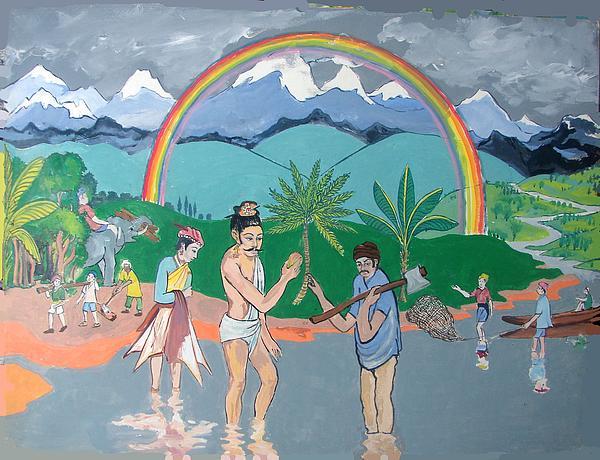 Brahmadatta Finds Mango Print by Scott Cumming