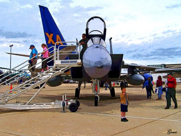 Branson Airport Airshow Print by Julie  Grace