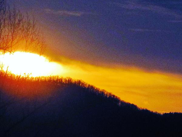 Brassball Mountain Sunset Photograph