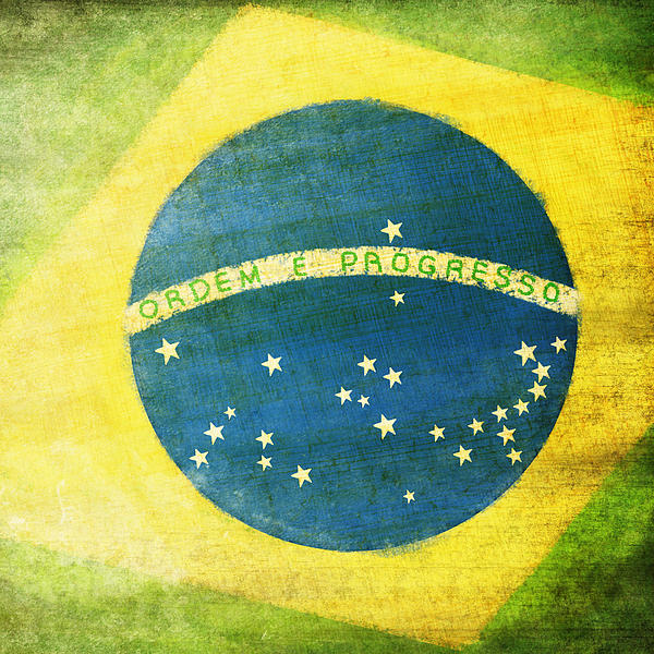 Brazil Flag Print by Setsiri Silapasuwanchai