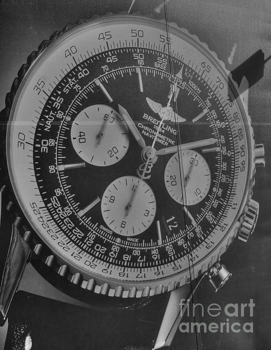 Breitling Chronometer Print by David Bearden