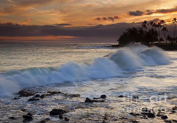 Brennecke Waves Sunset Print by Mike  Dawson
