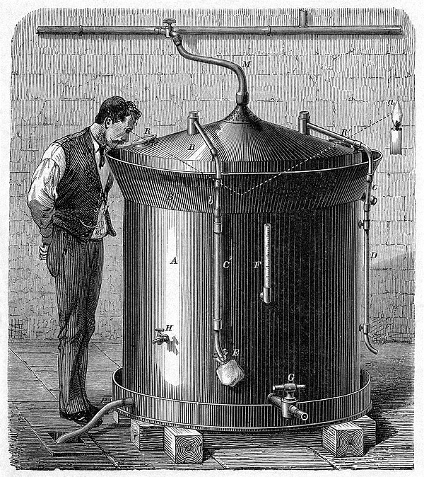 Brewery Vat, 19th Century Print by Cci Archives