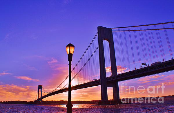 Bridge At Sunset 2 Print by Artie Wallace