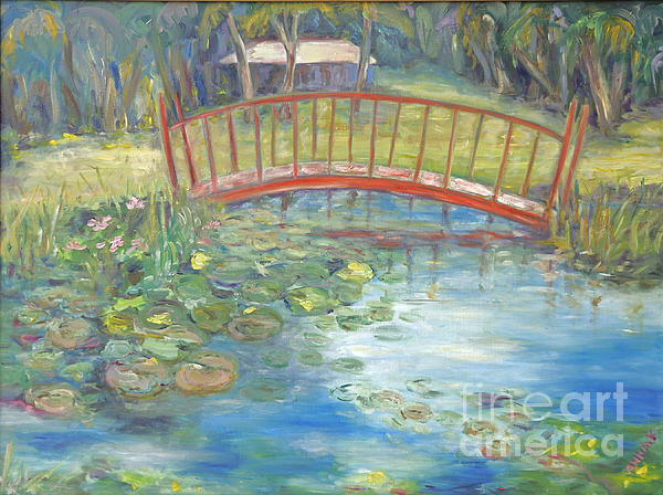 Bridge In Vero Beach Print by Barbara Anna Knauf