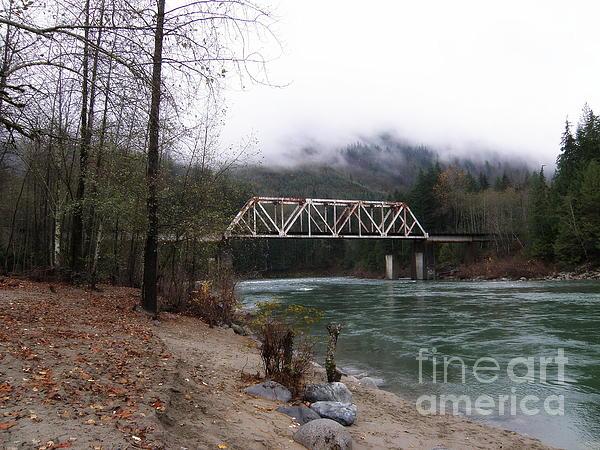 Bridge In Washington State Print by Tanya  Searcy