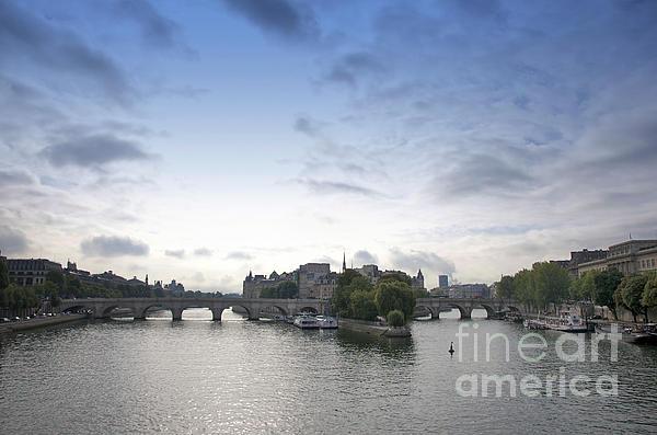 Bridges On River Seine. Paris. France Print by Bernard Jaubert