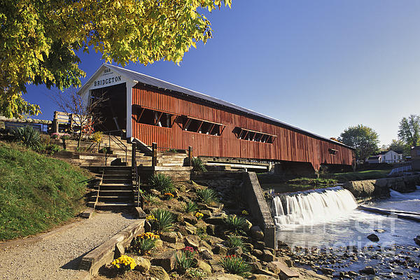 Bridgeton Covered Bridge - Fm000064 Print by Daniel Dempster