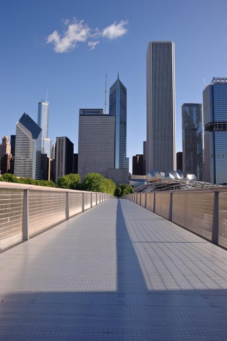 Bridgeway To Chicago Print by Steve Gadomski