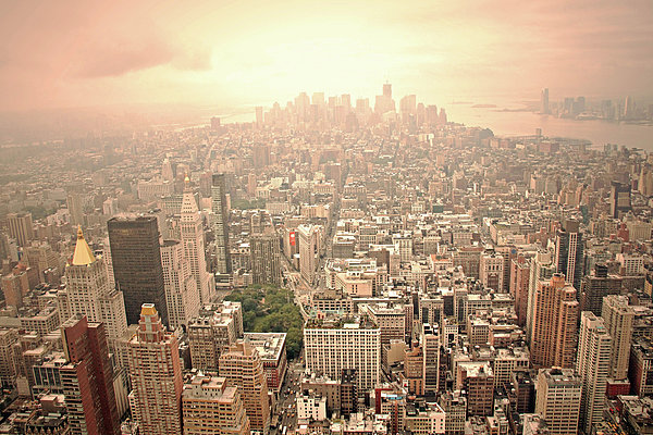 Bright Financial District In Nyc Print by Daniela Duncan