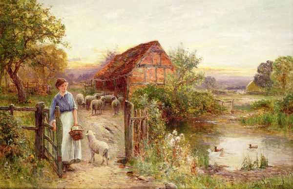 Bringing Home The Sheep Print by Ernest Walbourn