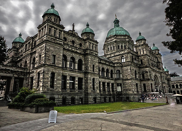 British Columbia Parliament Buildings Print by Gregory Dyer