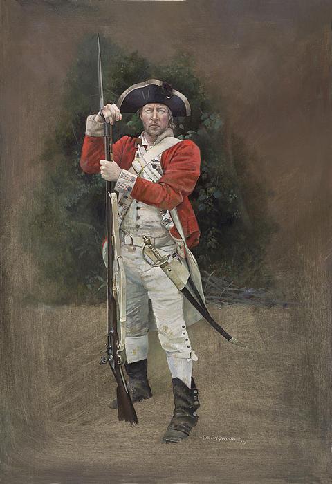 British Infantryman C.1777 Print by Chris Collingwood