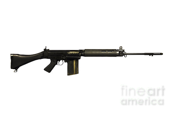 British L1a1 Self-loading Rifle Print by Andrew Chittock