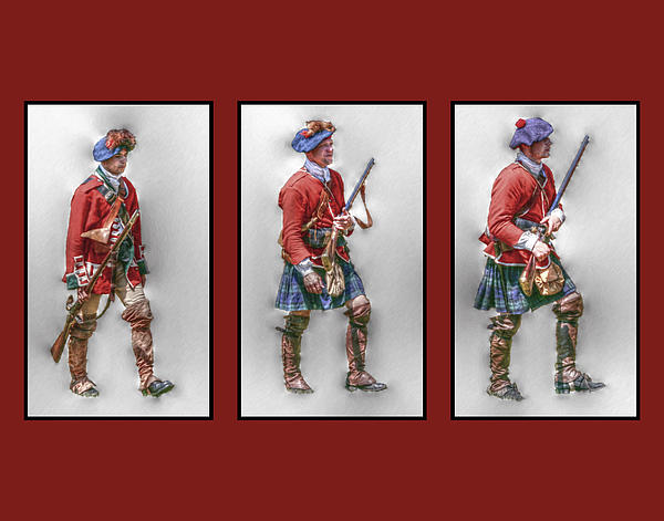 British Royal Highlanders Digital Art  - British Royal Highlanders Fine Art Print