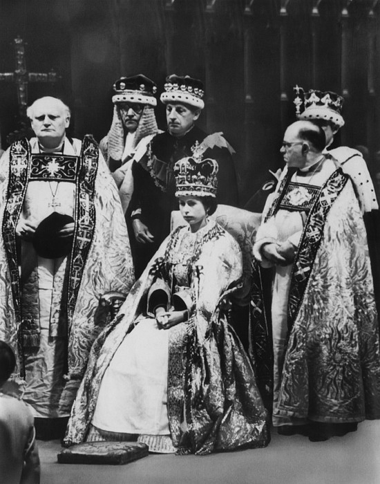 British Royalty. Front Row, From Left Print by Everett