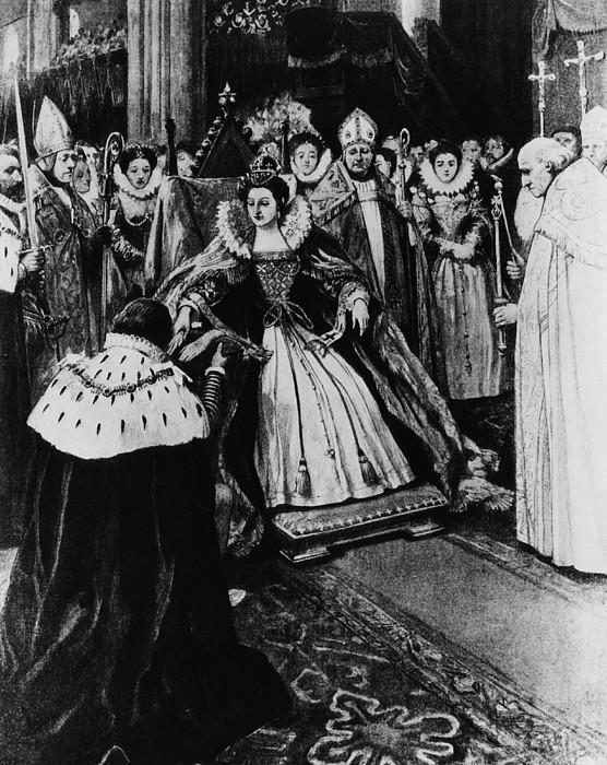 British Royalty. Queen Elizabeth I Print by Everett