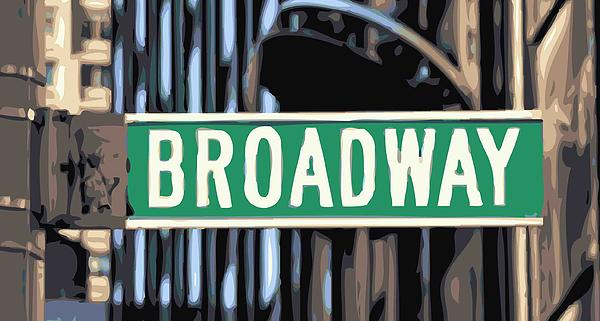 Broadway Sign Color 16 Print by Scott Kelley