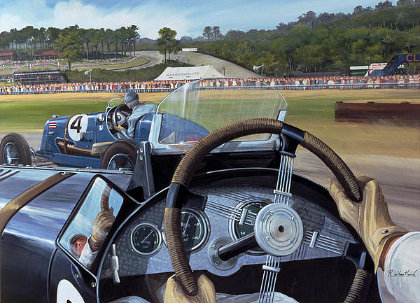Brooklands From The Hot Seat  Print by Richard Wheatland