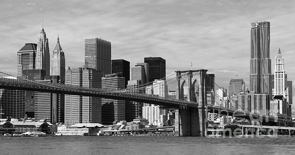Brooklyn Bridge And Skyline Print by Holger Ostwald
