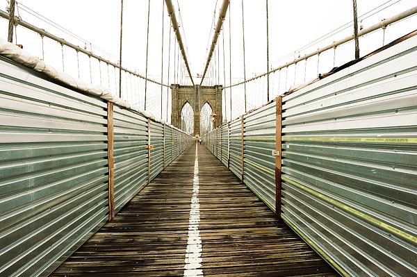 Brooklyn Bridge Print by Ixefra