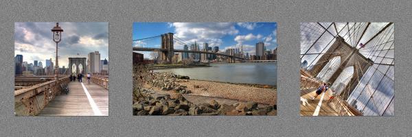 Brooklyn Bridge...triptych Print by Arkadiy Bogatyryov