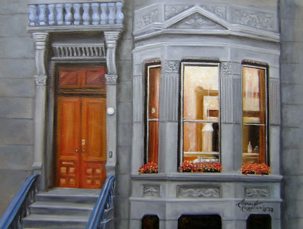 Brooklyn Brownstone Window Painting  - Brooklyn Brownstone Window Fine Art Print
