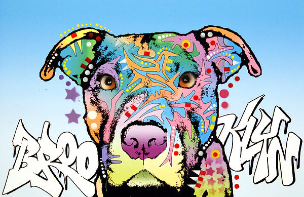 Brooklyn Pit Bull 2 Print by Dean Russo
