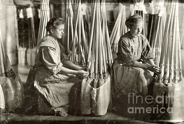 Broom Manufacture, 1908 Print by Granger